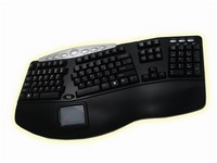 Tru-Form Pro-Contoured Keyboard with Touchpad & Hot Keys