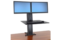 Workfit-SR, Dual Monitor, Standing Desk Workstation